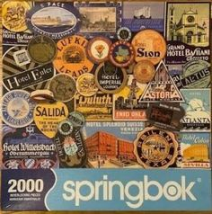 Bon Voyage! A Fun Travel Themed Springbok Jigsaw Puzzle! 2000 Piece Puzzle, Puzzle Shop, Travel Themes, Fun Travel, Create Image, World Traveler, Famous Artists, Vintage Toys, Jigsaw Puzzles