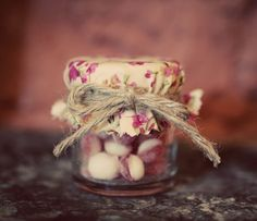 Vintage rhubarb and custard favours. 1950s wedding ©maria farrelly Photography
