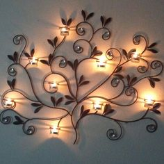 Beautiful candle wall decor