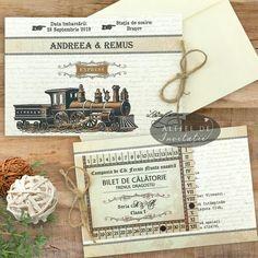 Expresul dragostei prezinta un design aparte, cu aspect vintage, avand ca idee de baza o minunata calatorie cu trenul.
