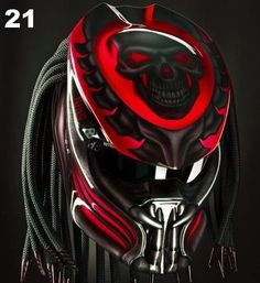 AWESOME PREDATOR HELMET CUSTOM DOT APPROVED #CELLOSHELMET
