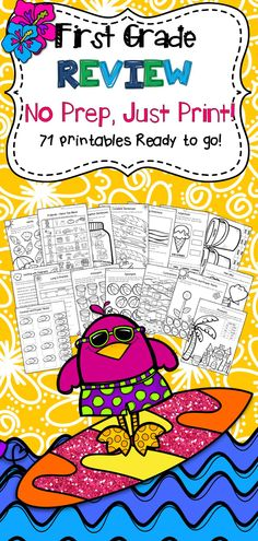This product contains 71 pages of First Grade ELA Review. Perfect for the end of first grade or during back to school time in second grade! There are so many engaging activities here to keep your students reviewing leaving you free to finish all that lovely end of year testing and paperwork! The beauty of this is that it's all no prep, just click print!