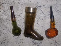 """#Vintage Avon """"Corncob Pipe"""" and Boot #Collectible Bottles $12.99 http://www.bonanza.com/listings/30152571"""