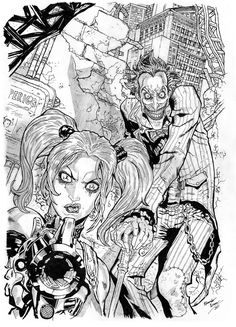 harley quinn and joker drawing - Google Search
