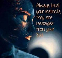 Always trust YOUR INSTINCTS they are Messages from YOUR  SOUL.... Do not give your power away to anything else.
