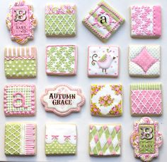 Incredible set of baby cookies! I love the colors and patterns! - by Arty McGoo