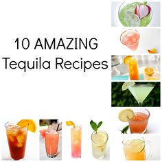 10 AMAZING Tequila Cocktails! I love tequila so I will be trying these❤ #drinks #cocktails #drinkrecipes #tequila