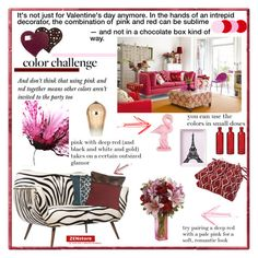 """Color Challenge: Red and Pink"" by zenstore ❤ liked on Polyvore featuring interior, interiors, interior design, home, home decor, interior decorating, Essentials, Cultural Intrigue, Emporium Home and Tom Dixon"