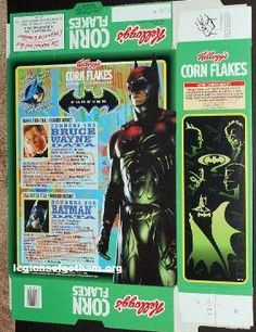Kellogg's Cereal Boxes back in the 1880's   KELLOGGS BATMAN CEREAL