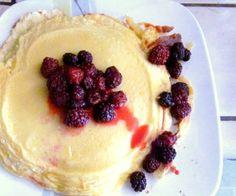 Pannukakku (Finnish Pancake) Recipe on Breakfast Dishes, Breakfast Recipes, Dessert Recipes, Desserts, Breakfast Ideas, Finnish Pancakes, Finnish Recipes, Yummy Treats, Yummy Food