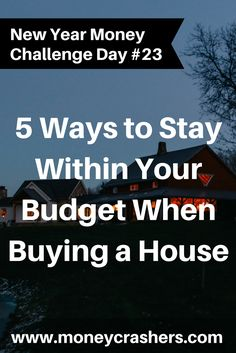 What to look for when buying a house (research project)?