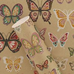 Paperchase kraft butterflies 3m roll wrapping paper: Amazon.co.uk ...