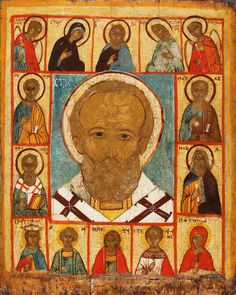 Nicholas the Wonderworker of Myra, with Deesis and Selected Saints (16th Century) Icon
