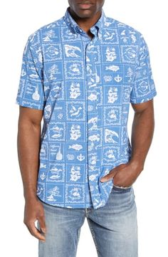 Buy Southern Tide x Reyn Spooner Bandana Intercoastal Short Sleeve Button-Down Performance Sport Shirt online - Protoideas Southern Tide, Men Looks, Mens Clothing Styles, Sports Shirts, Blouses For Women, Bandana, Button, Sleeves, Mens Tops