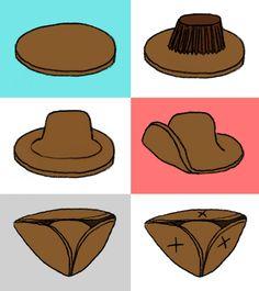 Tricorn cookie hats ^_^