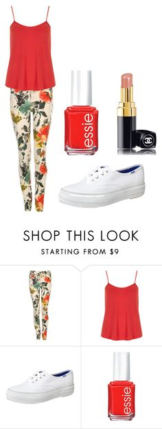"""Floral Jeans"" by dance2499 ❤ liked on Polyvore featuring Dr. Denim, Dorothy Perkins, Keds, Essie and Chanel"