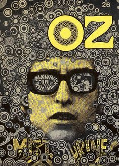 OZ magazine cover Blowing in the Mind: Bob Dylan, Mr. Tambourine Man by Martin Sharp, October 1967 Magazine Front Cover, Magazine Cover Design, Hippie Man, Hippie Style, Hippie Music, Rock Posters, Concert Posters, Hippie Posters, Psychedelic Art