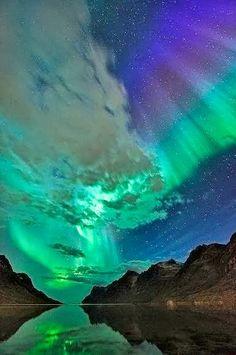 Northern Lights, Re Fjord, Norway - via Tom-Rune Forbergskog