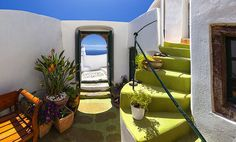 Santorini Courtyard | Flickr - Photo Sharing!