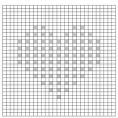 Bobble Crochet Graph - Heart