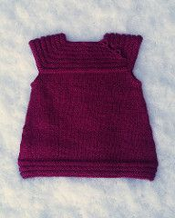 Little sister's dress is a cute little dress - or vest if you like. It is worked top-down, and is totally seamless.
