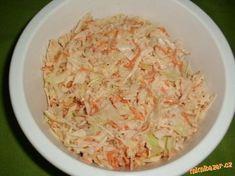 Vynikající salát coleslaw připravíte za babku plnou mísu No Salt Recipes, Top Recipes, Low Carb Recipes, Vegetarian Recipes, Cooking Recipes, Healthy Recipes, Slovak Recipes, Czech Recipes, Home Food