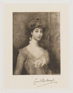 Consuelo (née Vanderbilt), Duchess of Marlborough (later Mrs Balsan) by Frederick John Jenkins, after Heller heliogravure, early 20th century