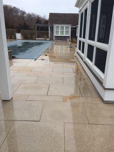 Giallo stone pool surround Nantucket
