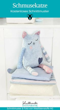Tutorial: Schmusekatze nähen Kittens baby cats for free Sewing Patterns Free, Free Sewing, Free Pattern, Sewing Projects For Beginners, Sewing Tutorials, Tutorial Sewing, Sewing Hacks, Sewing For Kids, Diy For Kids