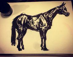 Acrylic ink.