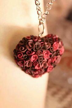 Fimo heart pendant