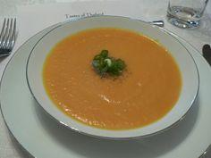 Pumpkin soup ---- Ingredients 2.5 lbs peeled and diced pumpkin 1 large potato peeled and diced 1 finely chopped onion 4 cups chicken or vegetable stock Half cup thin cream 2 tbs olive oil 1 garlic clove 1 tsp cumin powder 1 tsp nutmeg powder Salt to taste