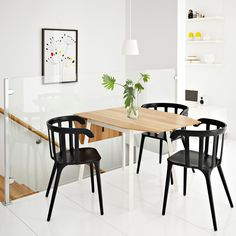 ikea drop leaf table bamboo white seats with large dining room black extendable chairs