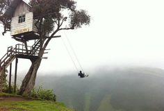 Schaukel am Ende der Welt La-Casa Del Arbol, Ecuador, Banos