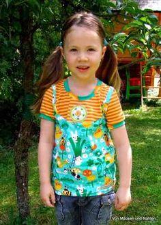 Lillestoff - In The Garden + geel/oranje streep Shirt: Lina - Frau liebstes