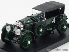BRUMM R100-UPD Scale 1/43  BENTLEY SPEED SIX CLOSED SCUDERIA BENTLEY N 4 WINNER LE MANS 1930 WOLF BARNATO - GLEN KIDSTON BIRITISH RACING GREEN
