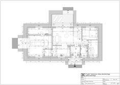 Powierzchnia użytkowa 100,21 m2, garaż, kotłownia, kuchnia, salon z jadalną, taras, sypialnia, gabinet domowy, łazienka, wiatrołap / Планировка первого этажа дома, гараж, котельная, кухня, гостиная, терраса, спальня, кабинет, ванная комната, прихожая / residential architecture Residential Architecture, Floor Plans, Drawing Rooms, Projects, Floor Plan Drawing
