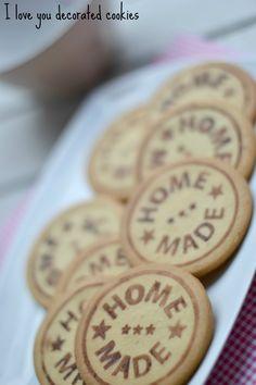 galletas decoradas con sello, sin glasa ni fondant