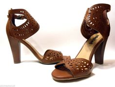 Unlisted by Kenneth Cole High Heeled Sandals New with Box Brown USA Size 7-1/2 M #UnlistedbyKennethCole #SandalswithHighHeel