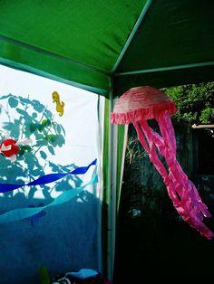 Medusas de papel. Party Hawaii. Fiesta hawaiana. Luau para niños