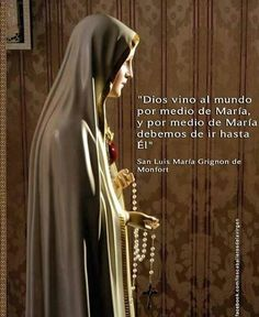 Spanish Prayers, Spiritual Prayers, Strong Faith, Beautiful Prayers, Holy Rosary, Catholic Quotes, Saint Quotes, Blessed Virgin Mary, Blessed Mother