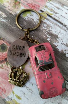 Check out this item in my Etsy shop https://www.etsy.com/listing/210067580/pink-tootsietoy-keychain-rust-queen