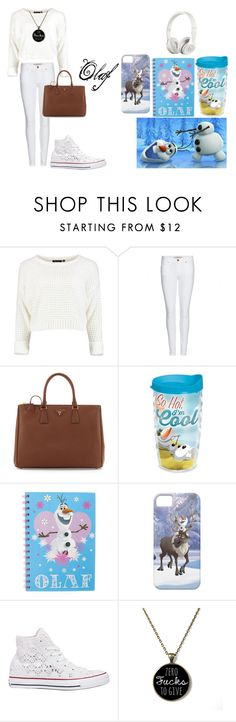 olaf look by cherlinanelemans on Polyvore featuring Burberry, Converse, Prada, Beats by Dr. Dre, Disney and Tervis