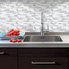 Decorative Wall Tiles Kitchen Smart Tiles Milano Carrera 1155 Inw X 965 Inh Peel And Stick
