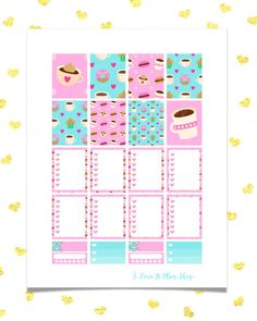 50% SALE Coffee Love Weekly kit planner stickers Printable
