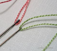 Diagonally Striped Raised Band Stitch