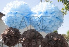Pompones de papel de seda, paper flowers, party, fiestas, AIRE OBJETOS DECORATIVOS, bs as, Argentina