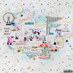 Comfort Zones: Using Mixed Media + Extra Photos (Crate Paper) Scrapbook Expo, Love Scrapbook, Scrapbook Page Layouts, Scrapbook Paper Crafts, Scrapbook Albums, Scrapbooking Ideas, Birthday Scrapbook, Paper Crafting, Crate Paper