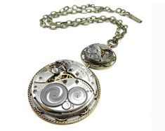 High Fashion Steampunk Necklace Pocket Watch Necklace Ornate Special Occasion Bridal Clockwork Pearls Steampunk Necklace Handmade by Compass Rose Design