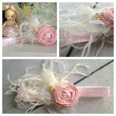 Chevron Pink Rosette headband by CozetteCouture on Etsy, $16.99